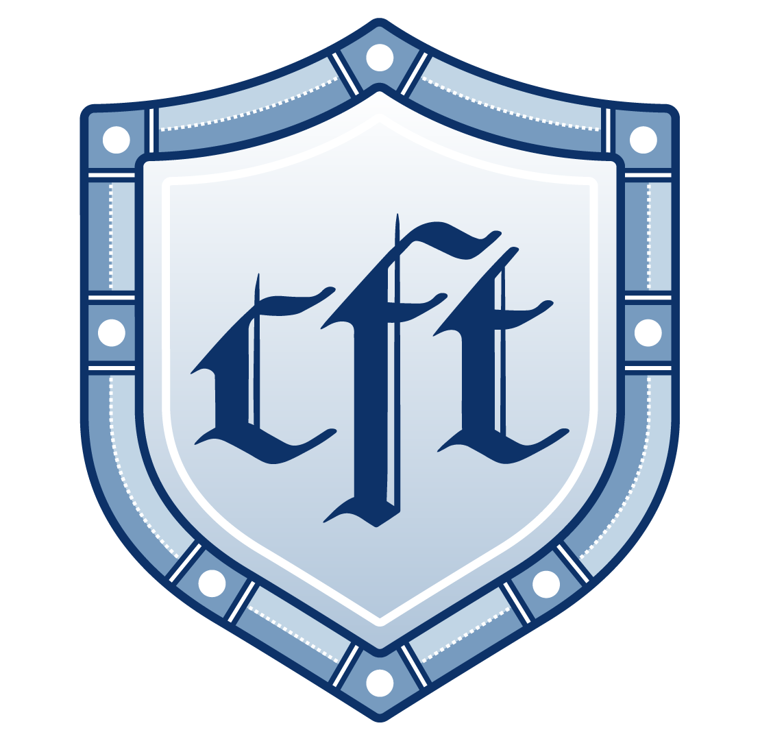 A small version of the logo for the Critical Fan Toolkit. It depicts a shield with the letters 'cft' in the middle.